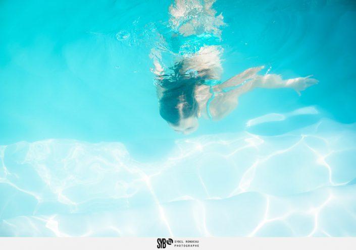 photos d'une famille dans la piscine en Vendée