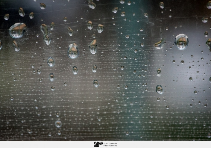 les gouttes de pluie pour la photos du dimanche par Sybil Rondeau photographe de famille à Nantes