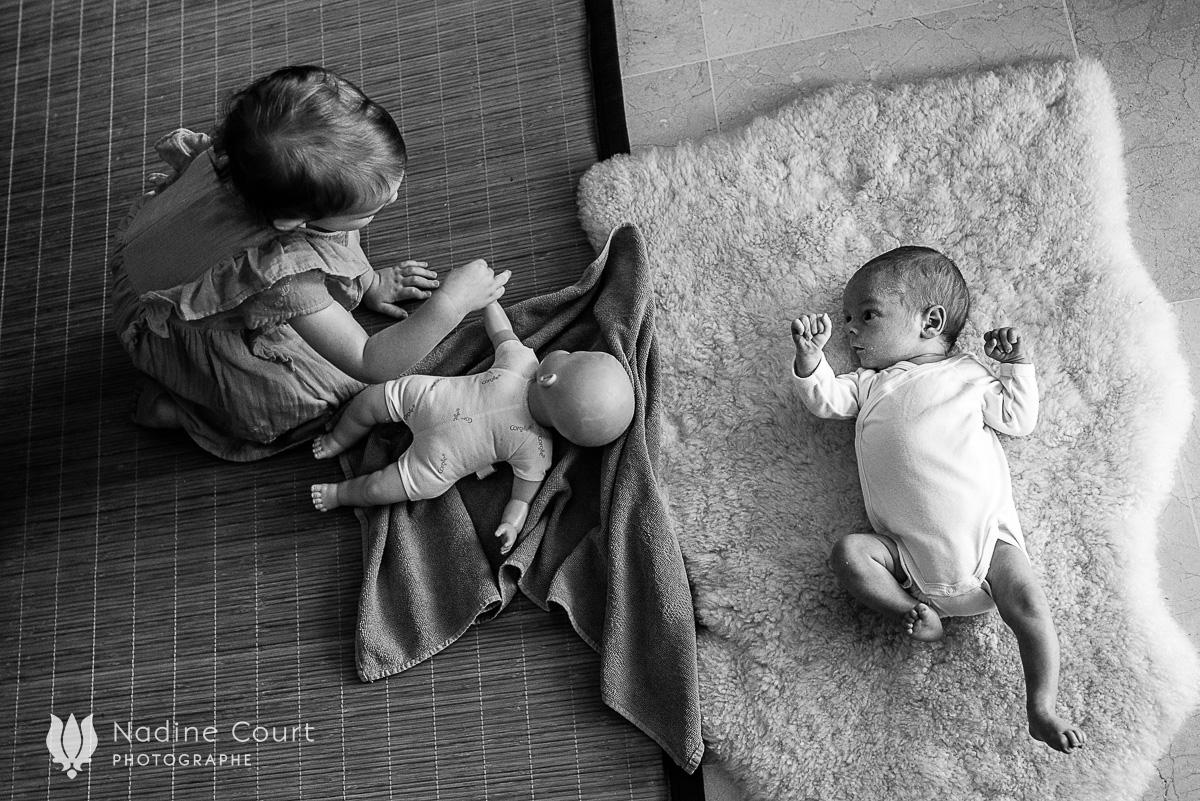 Reportage documentaire de famille - photos de nouveau-né à domicile